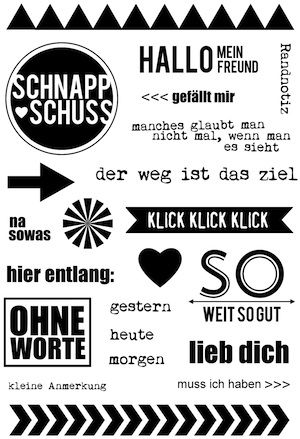 "Klartext-Stempel ""Schnappschuss"""