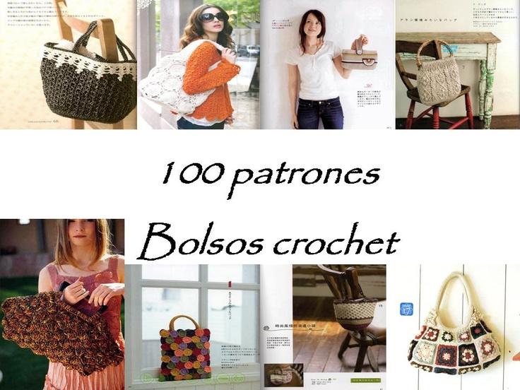 REVISTAS DE MANUALIDADES PARA DESCARGAR GRATIS: 100 Patrones de bolsos a crochet