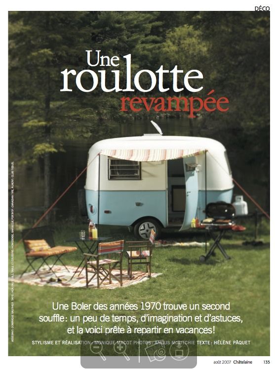 "Silver winner in Homes & Gardens. ""Une Roulotte Revampée"" by Angue McRitchie published in #Chatelaine, 2007."