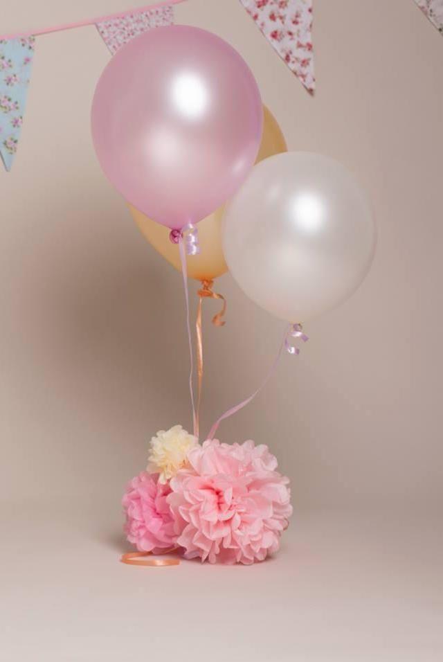 Arranjo De Mesa Com Balao Cubra O Peso Dos Baloes Com Flores De