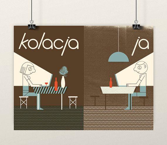 KOLACJA (Dinner) © Patryk Mogilnicki. Screenprint.