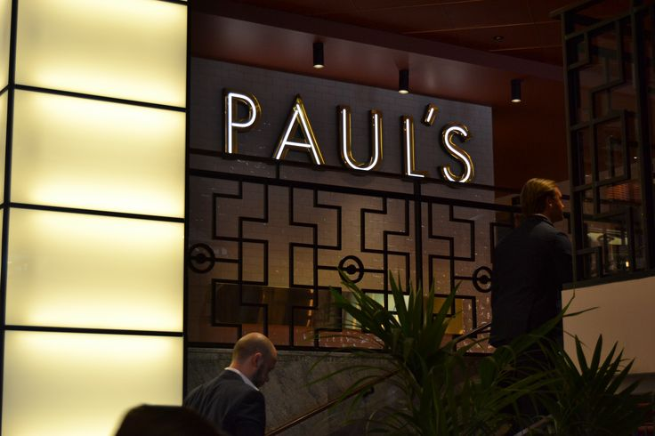 Paul's Stockholm Haymarket by Scandic Restaurant Interior Sign