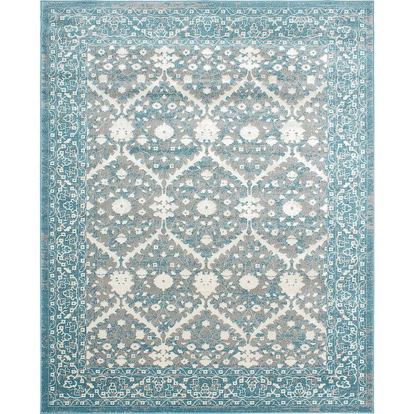 bardot blue and gray area rug 8u0027 x