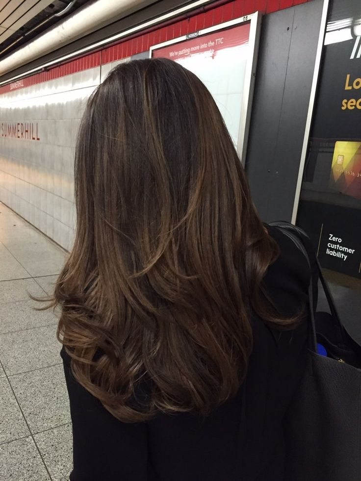 Kearns & Co Hair - Toronto, ON, Canada. Balayage done by Aaron to dark brown hair