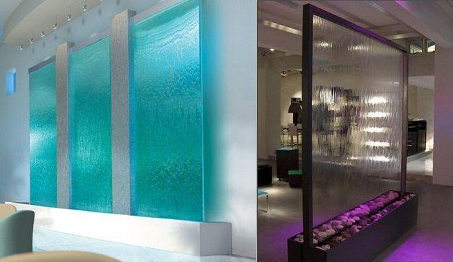 Paredes de agua en la decoraci n interiorismo pinterest for Cascadas de agua para interiores