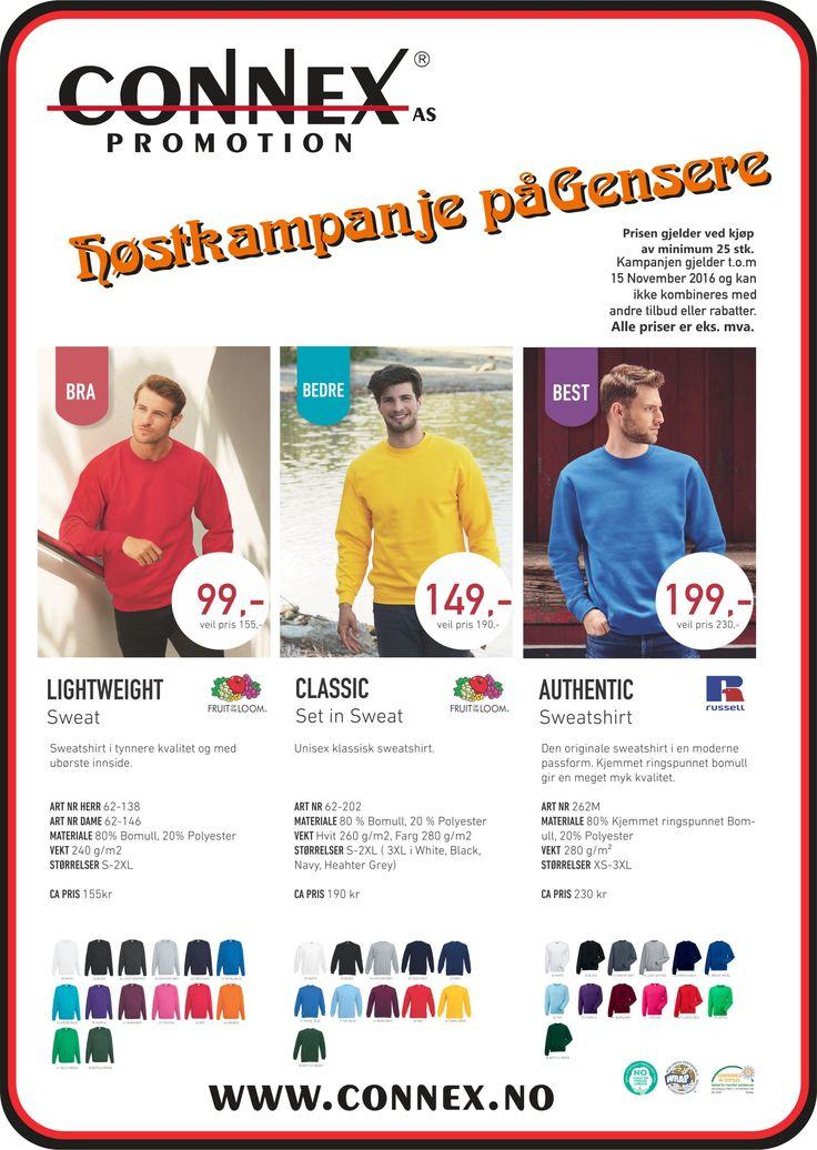 Kampanje på #Gensere #Sweatshirt #Arbeidstøy opptil 36% rabatt !