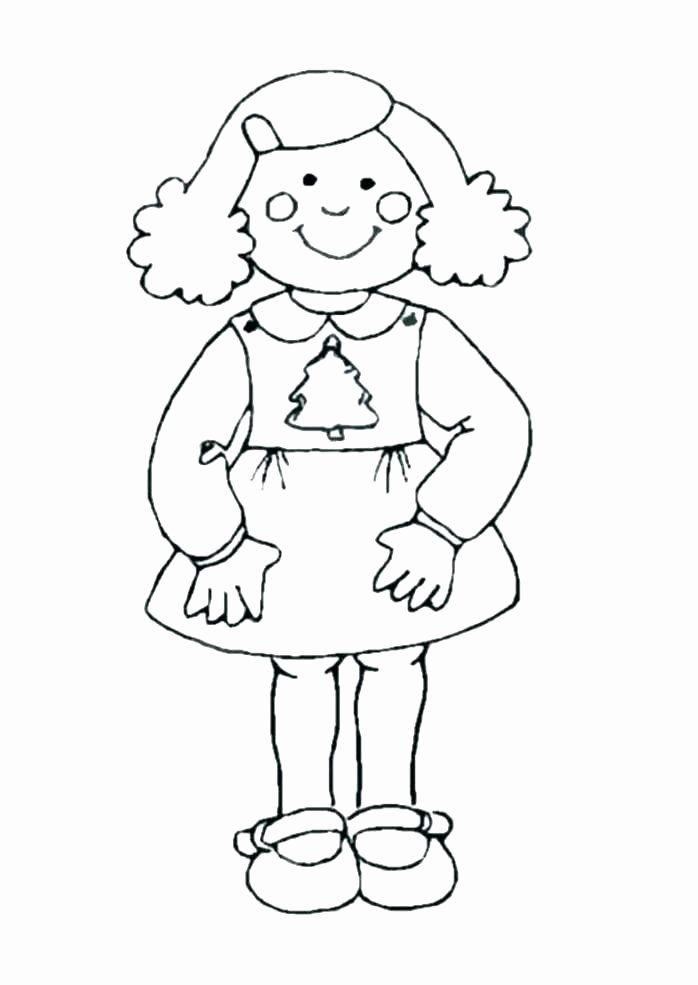 Gingerbread Girl Coloring Page Unique Gingerbread Man Line Drawing