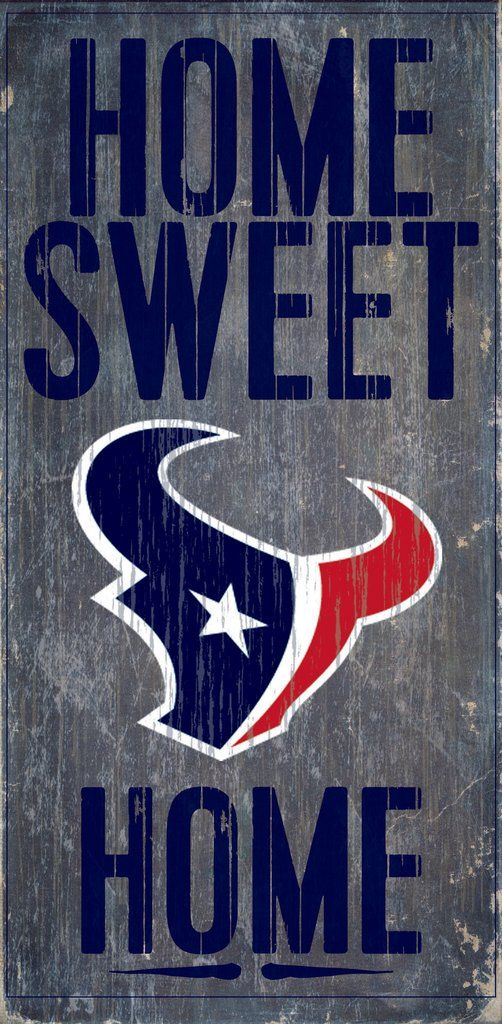 "Houston Texans Wood Sign - Home Sweet Home 6""x12"""