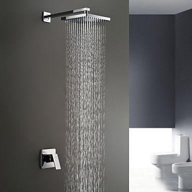 Sprinkle® by Lightinthebox - Chrome Wall Mount Rain Single Handle Shower Faucet – USD $ 61.38