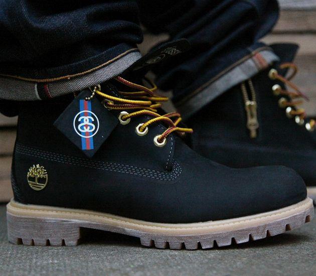 "Stussy x Timberland 6 Inch Boot ""Black"""