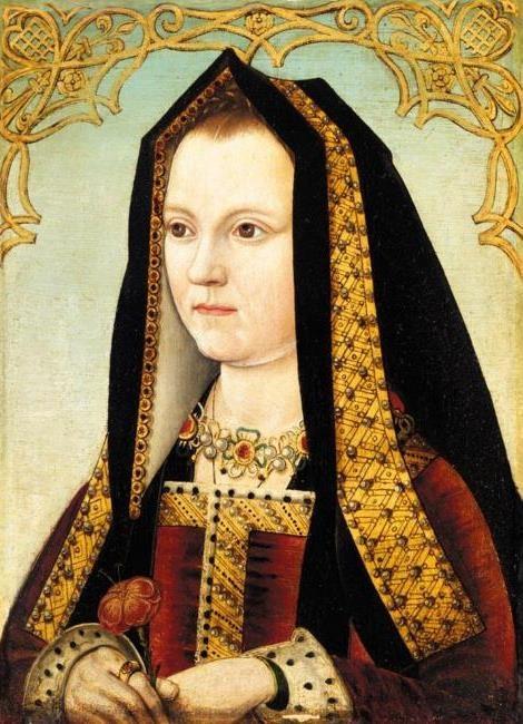Elizabeth of York, consort of Henry VII and mother to Henry VIII, daughter of Edward IV