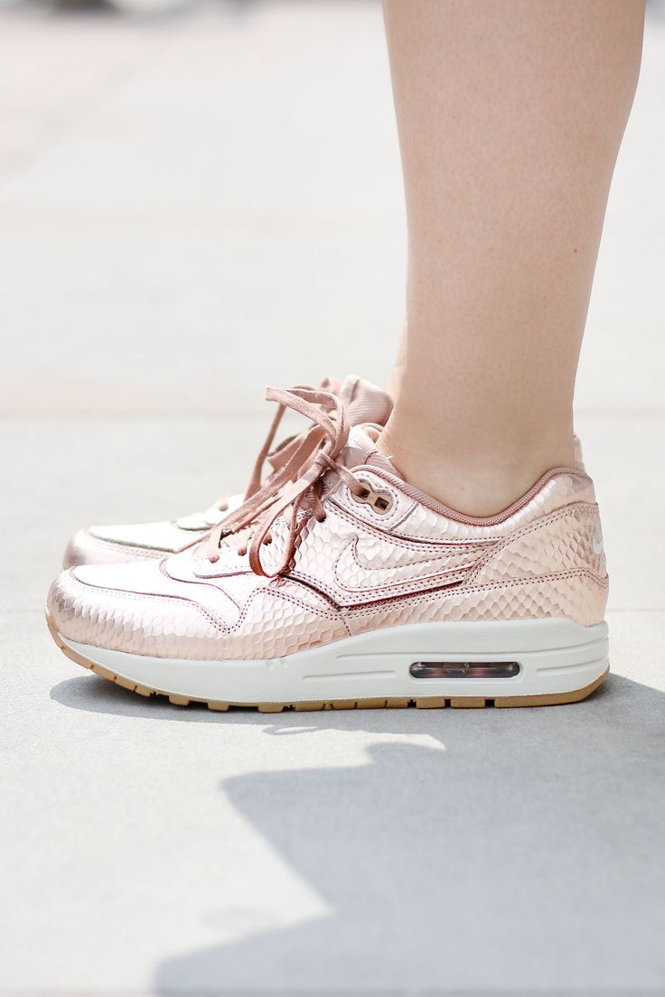 golden rosé sneakers, fashion accessories, style, sport chic
