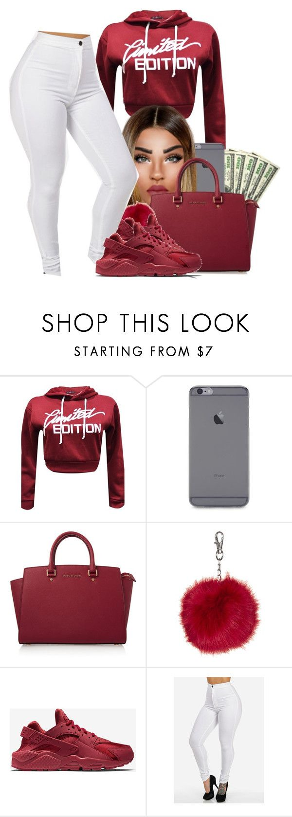 """""""Valentine's Day almost here❤"""" by heavensincere ❤ liked on Polyvore featuring MICHAEL Michael Kors, Topshop and NIKE"""
