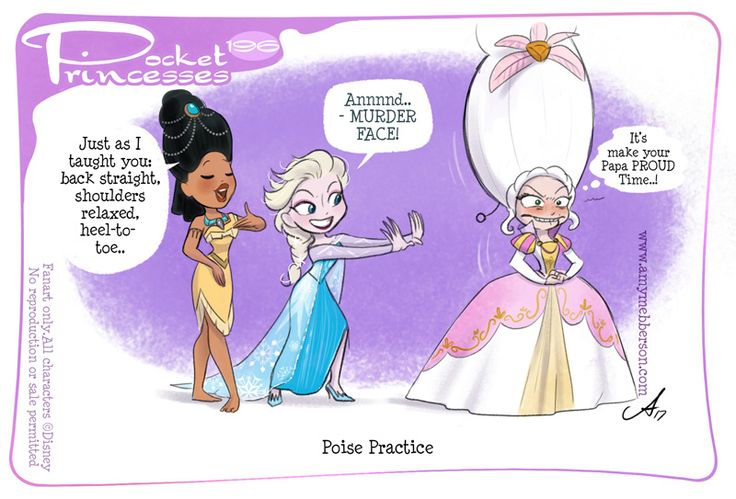 Pocket Princesses 196: Poise Practice (NB: Please read tags if you don't get it) Please reblog, don't repost, edit or remove captions Facebook - Instagram