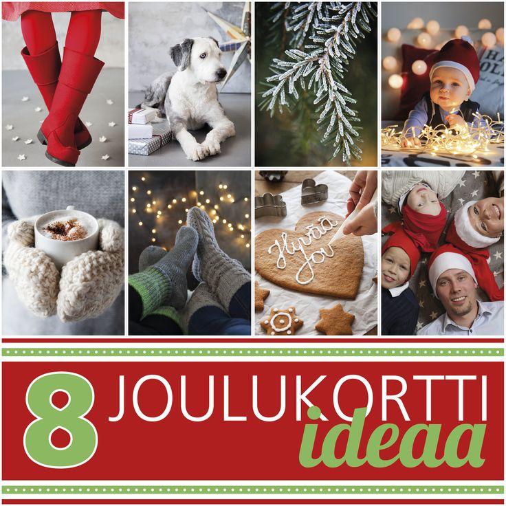 8 joulukortti-ideaa! Ota kiva kiva joulukorttiisi, ja tilaa kuvakortti osoitteessa ifolor.fi tai lataa ilmainen ifolor-sovellus puhelimeesi.