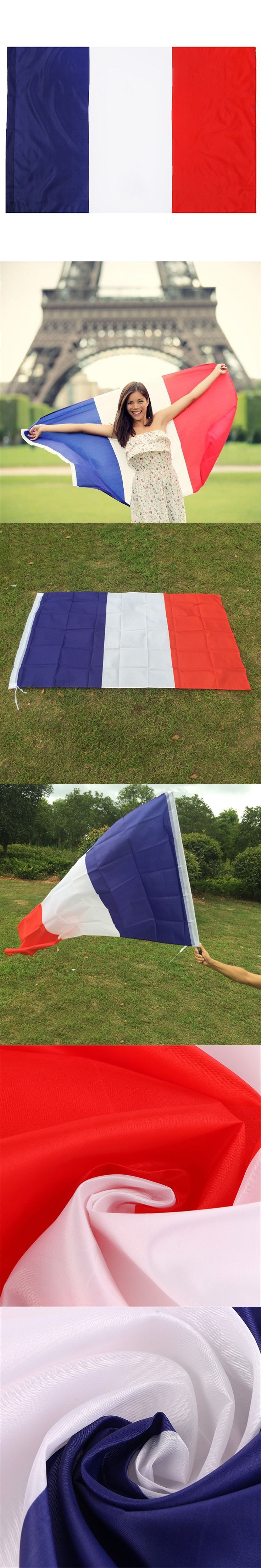 New Feet Large 90*150cm Polyester French Flag the France National Flags Home Decor $6.99