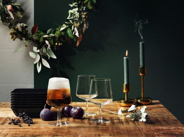 Deco table automne bougeoir