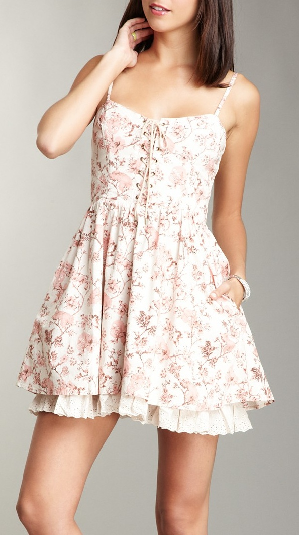 Corset Tea Party Dress / Betsey Johnson