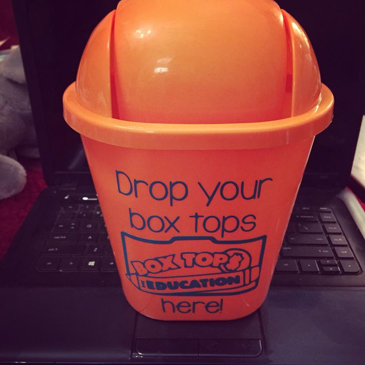 Box top collector for teachers. Can is from dollar tree.