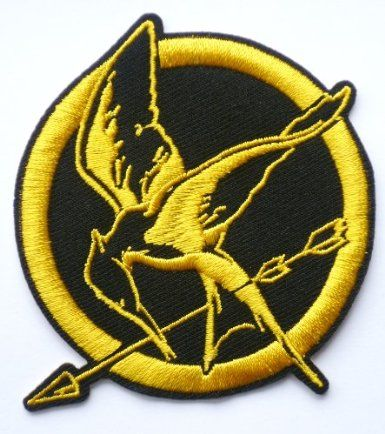 HUNGER GAMES Mockingjay Bird Iron / Sew On Embroidered Patch Badge Art & Craft: Amazon.co.uk: Toys & Games