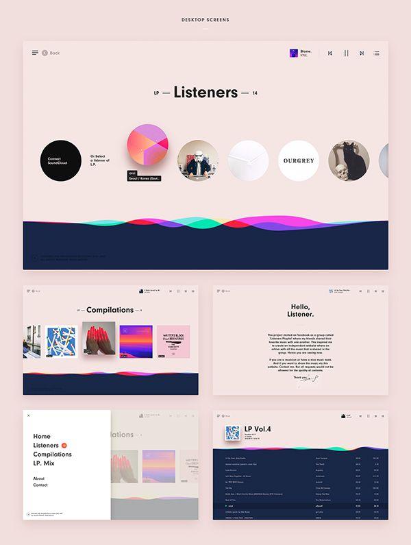 Listener's Playlist on Behance