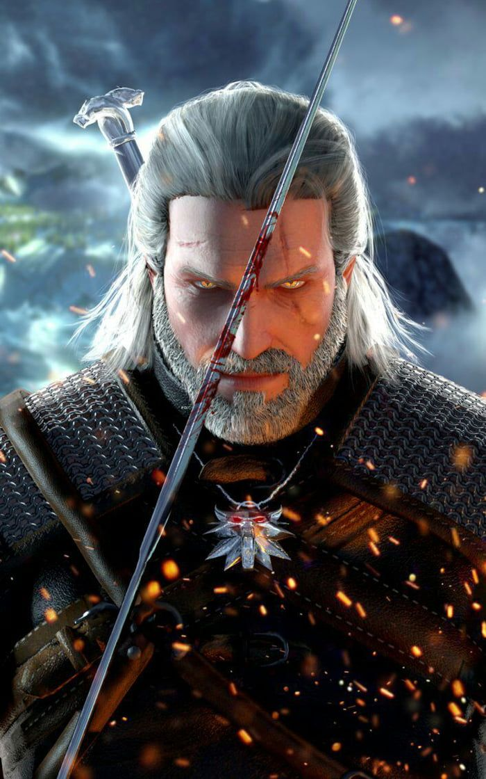 Geralt Of Rivia Mobile Wallpaper The Witcher Wild Hunt The Witcher Geralt The Witcher