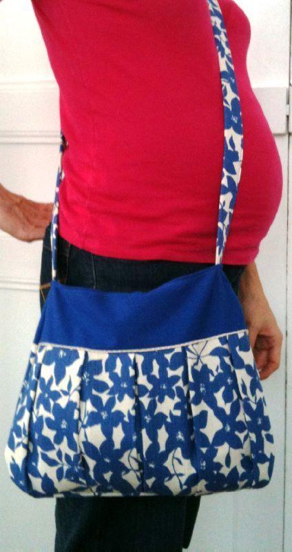 TUTO : sac besace plissé