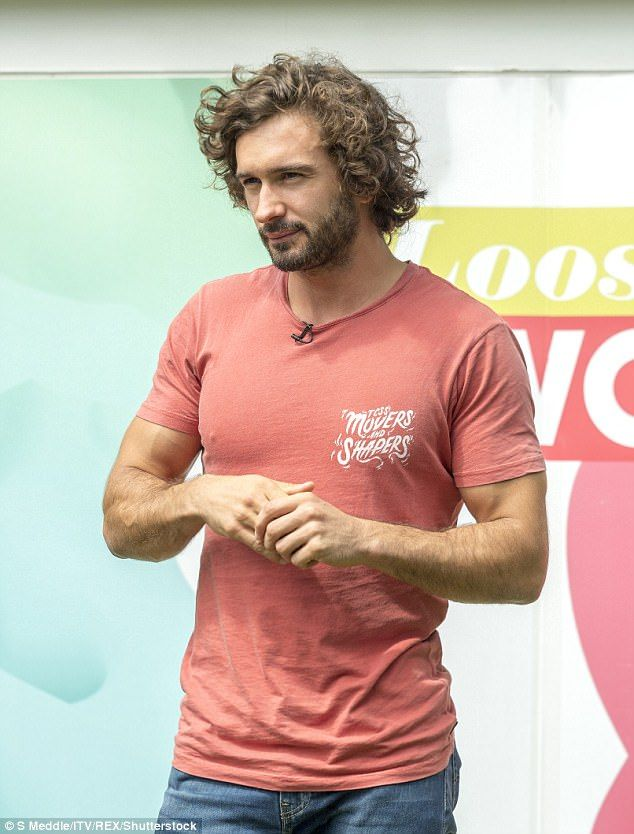 Opening up: Joe Wicks has kept decidedly quiet about his nearly 9-month relationship with Page 3 model Rosie Jones until now when his discussed their romance on Tuesday's installment of Loose Women