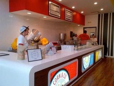 Corn & Co popcorn shop in Burlington offers two different bag pricing options and 16 daily add-in flavors, chosen from more than 250 flavors in rotation.
