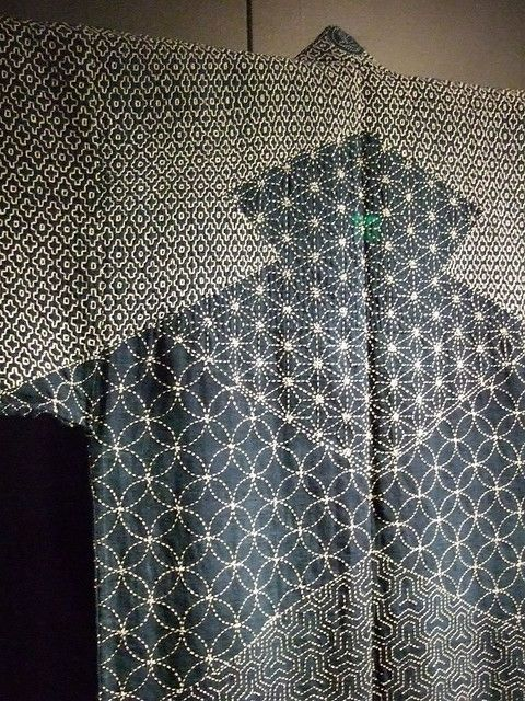 Lumberman's Sashiko. Japan Edo Period 1780. Indigo dyed hemp and cotton