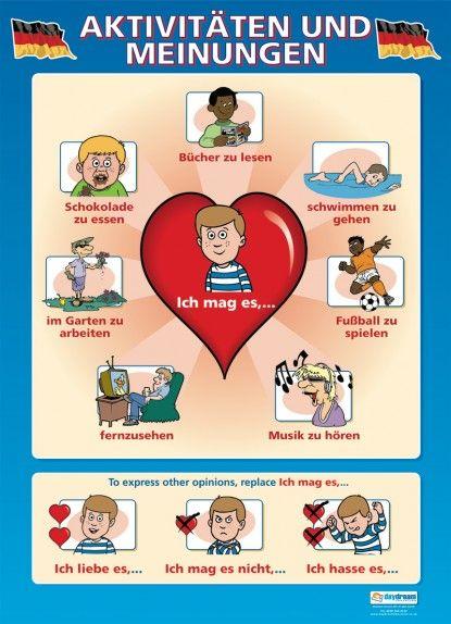 Aktivitaten und Meinungen | German Educational School Posters