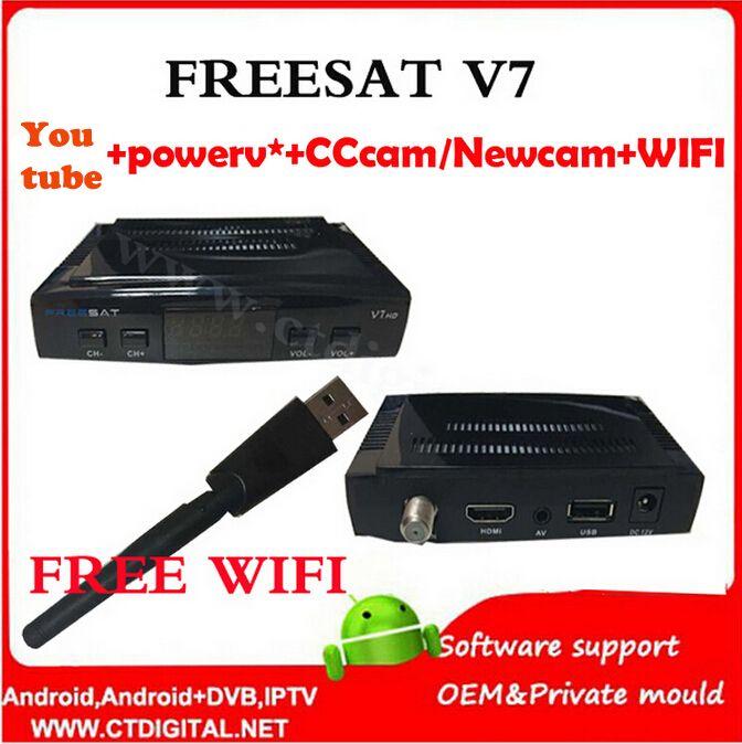 $111.80 (Buy here: https://alitems.com/g/1e8d114494ebda23ff8b16525dc3e8/?i=5&ulp=https%3A%2F%2Fwww.aliexpress.com%2Fitem%2Fpowervu-5pcs-freesat-V7-free-wifi-Youtube-free-video-DVB-S2-1080p-cccam-newcamd-iptv-set%2F32607310901.html ) freesat V7 5pcs powervu+free wifi Youtube free video DVB-S2 1080p ccam newcam set top box FREESAT V7 Satellite Receiver for just $111.80