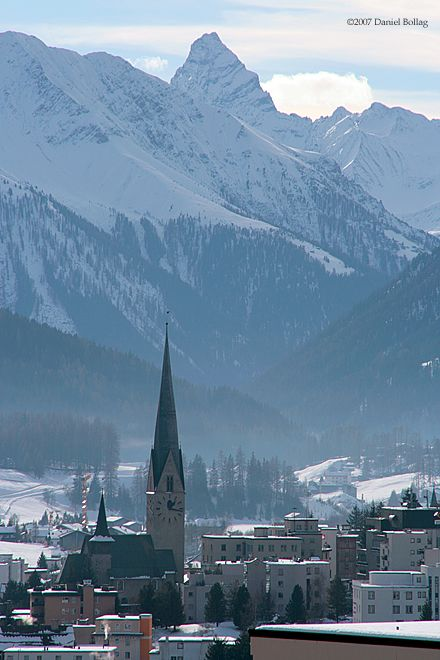 Platz Kirche Berge, Davos GR Switzerland