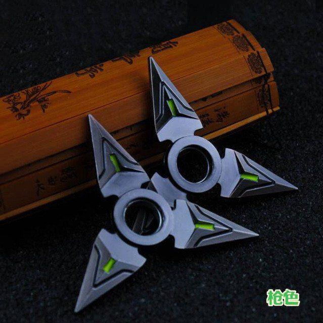 Overwatch - Genji Shurikens Fidget Spinner – Popcultv #overwatch #genji #fidgetspinner