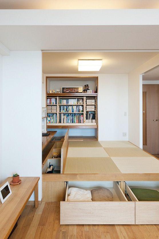収納スペースも◎和室 おしゃれアイデア参考                                                                                                                                                                                 もっと見る