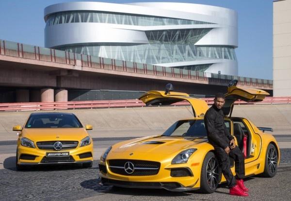 Usher Drives a NEW Mercedes-Benz A45 AMG & LOVES IT!