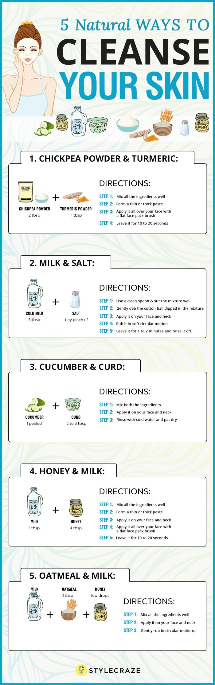5 Best Ways To Cleanse Your Skin Naturally More