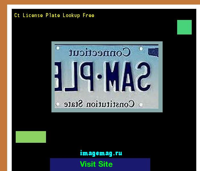 Ct license plate lookup free 155435 - The Best Image Search