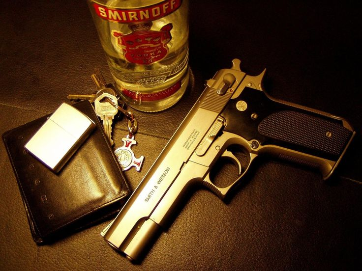 Latest Gun, Bottle, key and wallet Gold HD Wallpaper | Hd Wallpaper 4