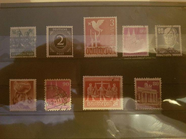 Deutsche Post und andere alte Briefmarken - gestempelt & Postfrisch, Top Zustand