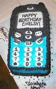 My birthday cake idea for Cade's 11th Brithday!! Cade has asked for a cell phone for his birthday and I want to put a actual phone in the cake!! SHHHHHHH!!!!!!!!!!!!
