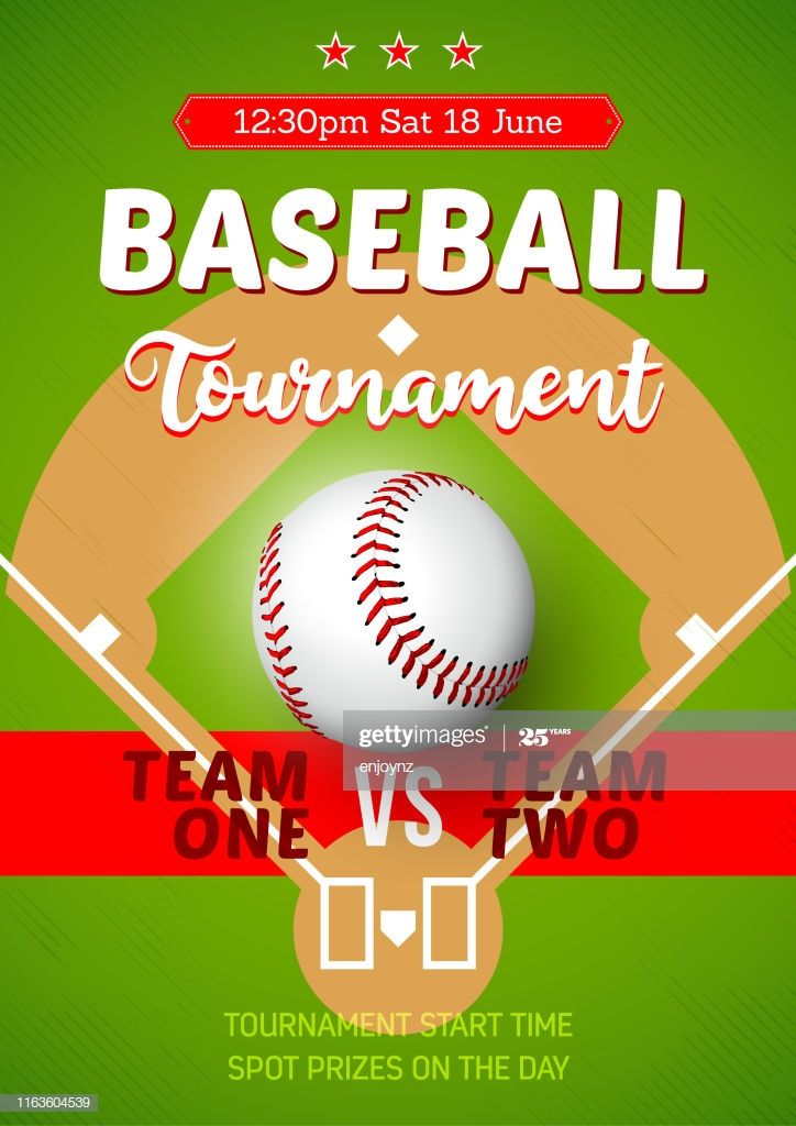 Vector Poster For A Baseball Team Competition In 2020 Baseball Tournament Baseball Poster