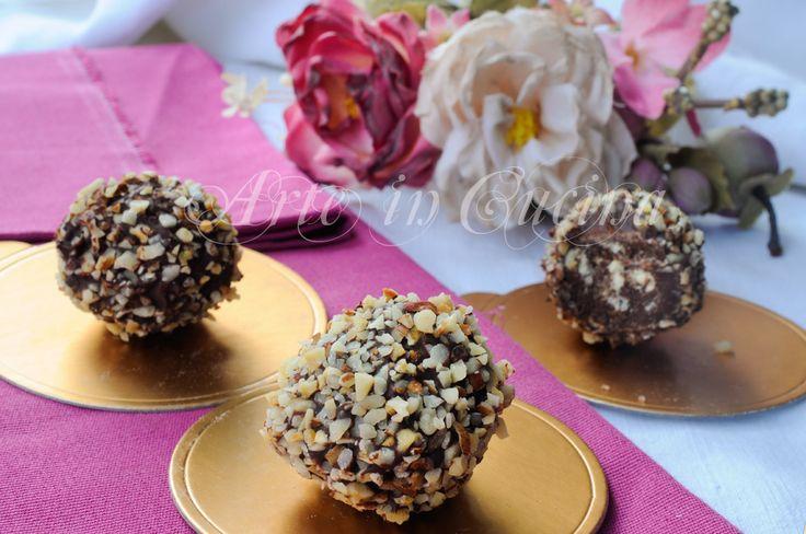 Tartufini con savoiardi e cioccolato veloci