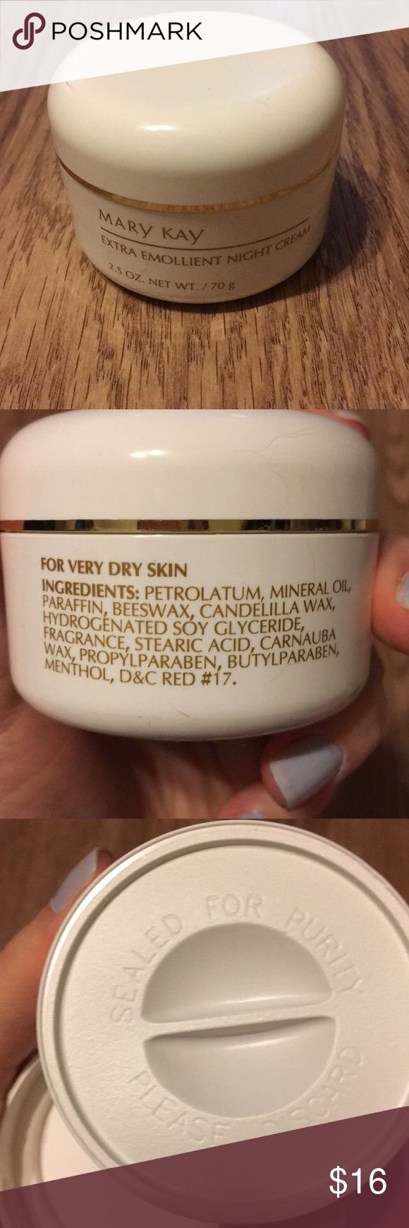 Mary Kay extra emollient night cream Mary Kay extra emollient night cream, brand new still sealed Mary Kay Makeup