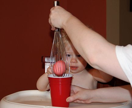 Aha - will try this - use a whisk to dye Easter eggs (into Kool Aid)