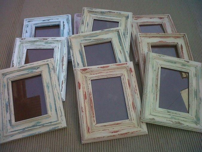 Diy c mo restaurar marcos de fotos diy pinterest - Ideas para restaurar ...