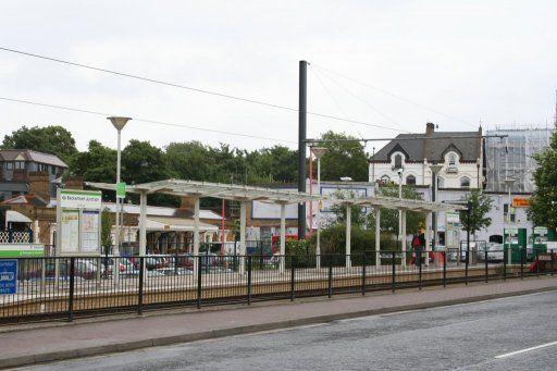 Croydon Tramlink tram stop at Beckenham Junction