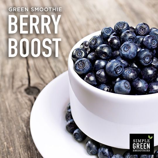 Berries can be your secret weapon to a healthy you! Add them to a green smoothie for a healthy snack.: Green Smoothie