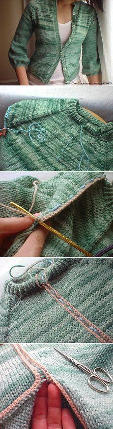 Как разрезать связаную вещь (Diy) / Вязание / Своими руками - выкройки, переделка одежды, декор интерьера своими руками - от ВТОРАЯ УЛИЦА