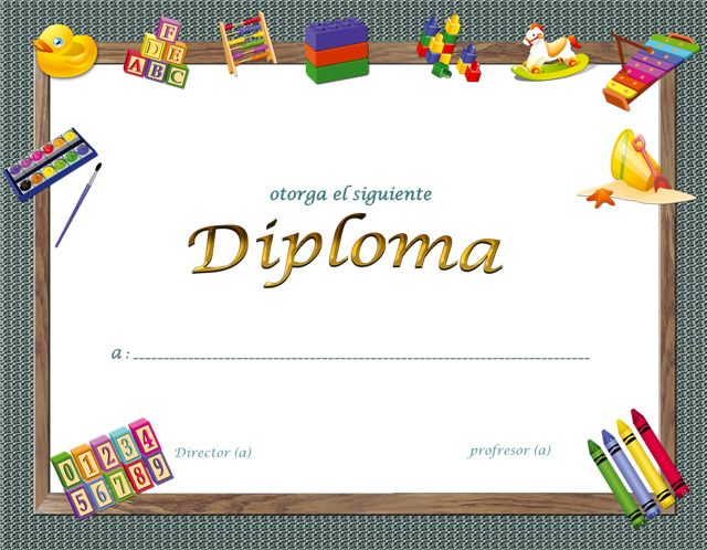 Plantillas de diplomas infantiles gratis - Imagui